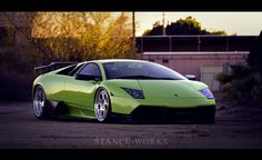 Bagged Lamborghini Murcielago on HRE 454s.    http://www.stanceworks.com/2012/02/planted-roots-bagged-lamborghini-murcielago/