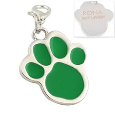 GP Personalized Engraved Pet Tags with Glitter Paw Design Dog Tags With a Gift Box >>> See this great product. (Note:Amazon affiliate link)