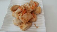 Fried Tofu with garlic & chilies