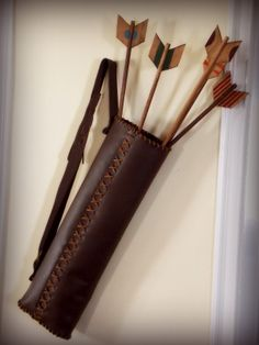 Leather Arrow Quivers | The hubs made the quiver from start to finish using this free pattern ...