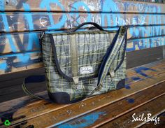 Business Bag Curve 3DL (H30cm X W40cm X L10cm) With sailcloth from mainsail 3DL Nort Sails, boat ElliniXX.