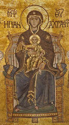 Byzantine Art, Byzantine Icons, Byzantine Mosaics, Religious Icons, Religious Art, Pictures Of Jesus Christ, Hagia Sophia, Historical Art, Orthodox Icons