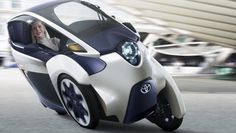 The Toyota i-Road personal mobility concept looks all prepared to roll out at the Geneva International Motor Show. As you can see in the image above, the Toyota i-Road would come across as an ultra-compact, tandem two-seater electric vehicle [. Reverse Trike, Concept Cars, Moto Journal, Lambretta, Automobile, Microcar, Can Am Spyder, Pt Cruiser, Third Wheel