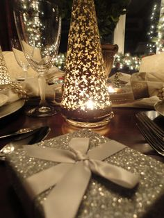 Tracy W's discussion on Hometalk. Holiday Dining Room - Ralph Lauren & Goodwill  :-) - I love a traditional dining room setting accented with silver for the holidays!