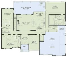 First Floor Plan of House Plan 82090