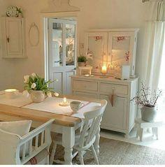 50 Romantic Shabby Chic Living Room Decor Ideas - Home Accents living room Shabby Chic Decor Living Room, Shabby Chic Dining, Shabby Chic Kitchen, Shabby Chic Furniture, Shabby Bedroom, Rustic Kitchen, Kitchen Dining, Kitchen Decor, Romantic Shabby Chic