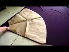 Como dobrar o tecido pra cortar saia godê longa e saia curta sem costuras laterais. Aula 73 - YouTube