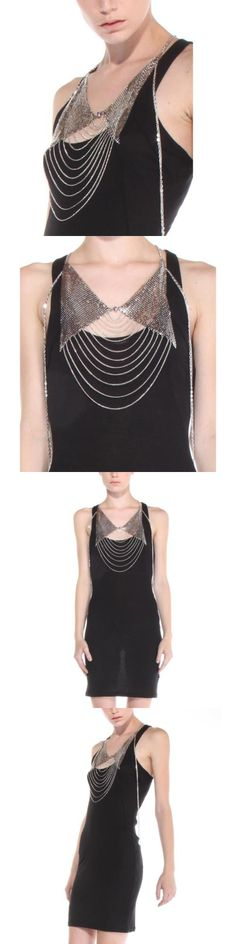 Body Chains 98526: Silver Mesh With Earrings Analie Body Chains Women Size One Size -> BUY IT NOW ONLY: $49.99 on eBay!