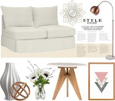 Living Room – Cherry Wood vs White  #livingroom #homedecor #decoration #whitesofa #homestyle #shopping #moodboard