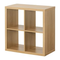 IKEA - KALLAX, Shelving unit, oak effect, , You can use the furniture as a room divider because it looks good from every angle.