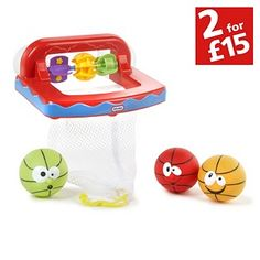 Buy Little Tikes Bathketball Set at Argos.co.uk - Your Online Shop for Toys under 10 pounds, Baby bath toys and books, 2 for 15 pounds on Toys.