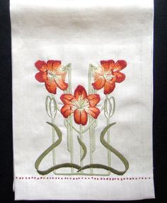 Star Gazed Table Scarf Embroidery Kit by paintbythread on Etsy, $60.00