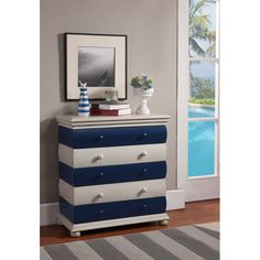 Nautical-Inspired Striped Chest