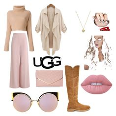 """The New Classics With UGG: Contest Entry"" by emily-14-1-1 ❤ liked on Polyvore featuring UGG, Zimmermann, Michael Kors, Lime Crime, Sasha, Fendi and ugg"
