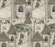 dragon fabric, wallpaper & gift wrap - Spoonflower