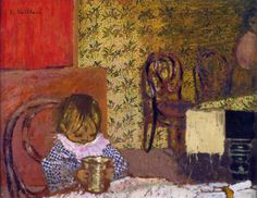 Enfant A Table, one of the most famous paintings by Edouard (Jean-Edouard) Vuillard Most Famous Paintings, Paintings I Love, Colorful Paintings, Painting Prints, Edouard Vuillard, Art Rules, Pierre Bonnard, Impressionist Artists, Portraits