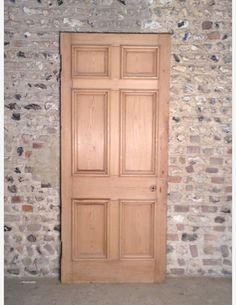515 - A 6 Panel Georgian Internal Door with Bolection Moulding