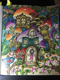 Coloring Tips, Colouring Pages, Adult Coloring, Coloring Books, Fairy Sketch, Fairy Tree Houses, Markova, Color Blending, Prismacolor