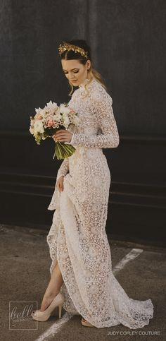Rustic wedding dress - Judy Copley Bridal