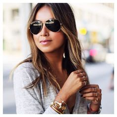 Casual vibes with @sincerelyjules wearing the #ALEXMIKA #Pearl Bangle  Midi Pearl #Ring  Shop this look on alexmikajewelry.com #sincerelyjules