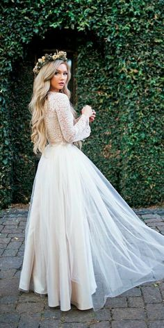 Long sleeve lace rustic wedding dress Floor length boho wedding dress bohowedding bohoweddingdresses weddingdresses weddingdress weddings weddinginspiration beachwedding vintagewedding lon is part of Slit wedding dress - Boho Wedding Dress With Sleeves, Slit Wedding Dress, Rustic Wedding Dresses, Gorgeous Wedding Dress, Long Wedding Dresses, Bridal Dresses, Wedding Ideas, Boho Beach Wedding Dress, Wedding Planning
