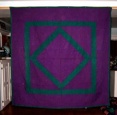 Lancaster Co. PA, circa 1930, wool according to seller on ebay Amish Dolls, Amish Quilts, Diamond Quilt, Antique Quilts, Stained Glass Patterns, Doll Crafts, Lancaster, Quilt Making, Welsh