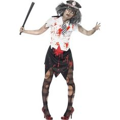 Zombie Police Lady Costume