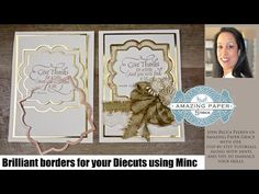 APG Adding Borders to your Diecuts Using A Minc Machine - YouTube