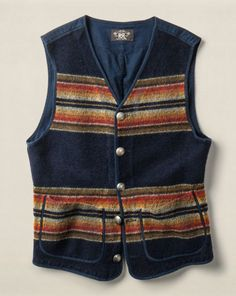 Indigo Wool-Cotton Abbott Vest - RRL Cloth - RalphLauren.com