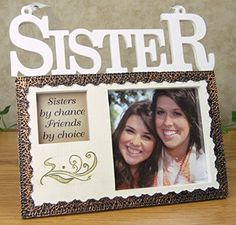 sisters hanging picture frame plaque sisters by chance friends by choice photo opening
