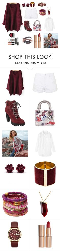 """Red Velvet"" by hien-anhhs on Polyvore featuring mode, Topshop, Nine West, Christian Dior, American Eagle Outfitters, Toast, Dsquared2, Rosena Sammi Jewelry, Kenneth Jay Lane et Marc by Marc Jacobs"