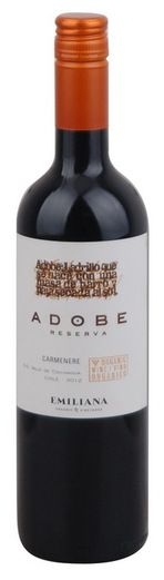 In stock - 4,95 € 2012 Emiliana Carmenére, red dry , Chile - 85pt