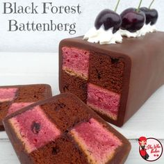 Black Forest Battenberg - Will be trying out this bad boy! Baking Recipes, Cake Recipes, Dessert Recipes, Yummy Treats, Sweet Treats, Yummy Food, Cupcakes, Cupcake Cakes, Big Cakes
