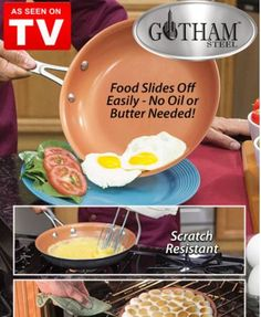 Gotham Steel Newest Non Stick And Scratch Frying Pan Find This Pin More On As Seen Tv Kitchen