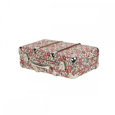 Cloth case reinforced with metal corners. Covered with Liberty Betsy fabric. Sturdy hinges and handle, snap fastener. Can be used as trunk, display case, letterbox . Betsy case Merci 49 €