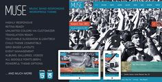 Muse: Music Band Responsive WordPress Theme (Entertainment)