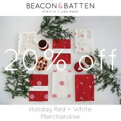 Celebrate a new year with off red + white prints! Happy New Year 2016, White Prints, Batten, Red And White, Felt, Holiday Decor, Home Decor, Felting, Interior Design