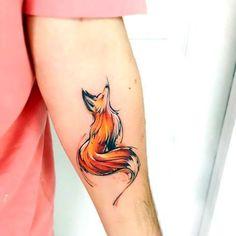 Idea linda de la acuarela Fox tatuaje