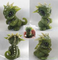 Polymer clay faux Jade dragon by  BittyBiteyOnes on deviantART