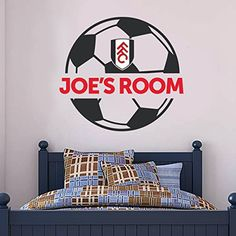 f67ec710bc3 The Official Home of Football Wall Stickers - Fulham Bedroom Football Gifts