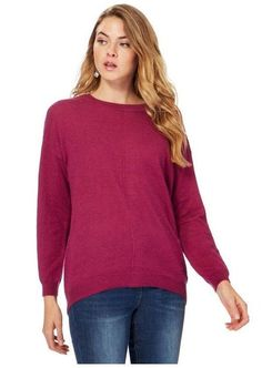 55e78146144 John Rocha Purple Button Applique Back Longline Jumper. and has been  designed in a flattering longline fit. Refresh a knitwear collection with  this simple ...