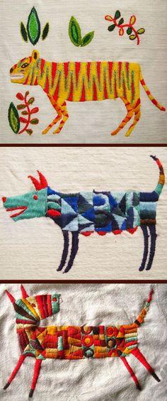 Carolina Bernal: Bordados | Embroidery | Embroidery, Stitch and Needlework