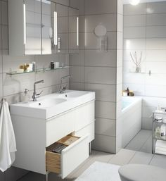 Sink Cabinet and mirror storage for a small bathroom