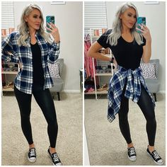 Flannel Outfits Summer, Cute Fall Outfits, Plaid Fall Outfits, Simple Outfits, Winter Outfits, Plaid Fashion, Autumn Fashion Casual, Fall Fashion Outfits, Dressy Casual Outfits