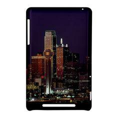 Dallas Skyline At Night+Google Nexus 7 Hardshell Case