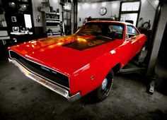 1968 Dodge Charger 440 being serviced as one should. Love the all stock