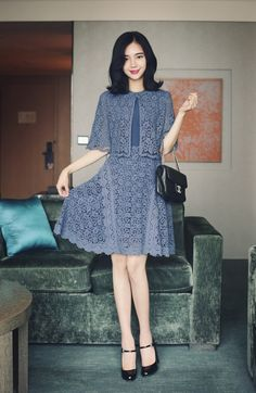 15 Best Outfit That Make Your Looks More Feminine - Fazhion Simple Dresses, Cute Dresses, Casual Dresses, Short Dresses, Fashion Dresses, Coat Dress, Dress Skirt, Lace Dress, Dress Brokat