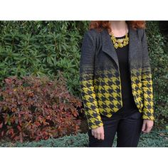 New Blog Post! All about my #houndstooth #morrisblazer from @grainlinestudio. Link in profile. #stylemakerfabrics #fallsewing #fallsewing #imakeclothes