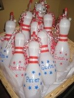 Bowling party favors for Trey's bowling party! Birthday Party Venues, 5th Birthday Party Ideas, Party Themes For Boys, Birthday Parties, Kid Parties, Birthday Stuff, 7th Birthday, Birthday Celebration, Happy Birthday