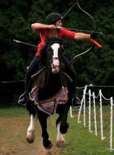 Horseback archery!